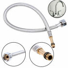 Stainless Steel Kitchen Basin Mixer Tap Faucet Braided Water Hose Connector Pipe