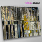 AB1177 silver yellow glass mosaic Abstract Canvas Wall Art Framed Picture Print