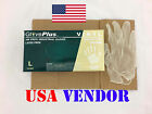 GlovePlus Clear Vinyl Powder Free Industrial Disposable Gloves Box 100 count USA