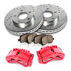 Front Red Brake Calipers And Rotors + Pads 2013 2014 2015 2016 Dodge Dart $283.98 USD