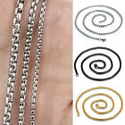 Fashion Men's Stainless Steel Necklace Titanium Necklace Curb Link Chain 3MM 5MM