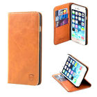 Allshield iPhone 6/6S & Plus Genuine Leather Flip Case Wallet & Stand Tan Brown