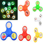 Glow In The Dark Finger Fidget Hand Spinner Bearing Emoji Faces Factory Lumières
