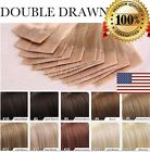 US 7A Tape In 100% Remy Human Hair Extensions 100% Skin Weft Seamless 16