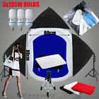 Large Photo 80cm Tent 3x135W SoftBox Lighting Stand Display Table 4XBackdrop Kit