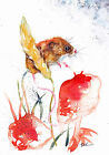 Original Watercolour Harvest Mouse Print by Artist Be Coventry wildlife art