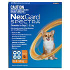 NEW NexGard Spectra For Dogs All Sizes All in 1 Tick Worm and Flea Treatment