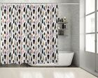 Colorful Bird Feathers Pattern Ethnic Boho Style Decorating Shower Curtain