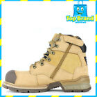 Caterpillar Mens Brakeman Hi Zip Steel Cap Safety Boots HONEY RESET P717493