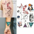1 Piece Outer Space Universe Temporary Tattoo with Space Geometric,  Planet, Ast