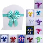 Chair Sash Bows Banquet Wedding Party Decoration Cover With Buckle Slider Sashes