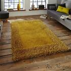 Think Rugs Sable Two Yellow Shaggy Rugs