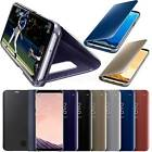 New Samsung Galaxy S8 S8+ Clear View Mirror Leather Flip Stand Case Cover