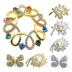 Elegant Flower Brooch Pin Crystal Rhinestone Wedding Broach Jewelry Bridal Party