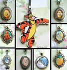 WINNIE THE POOH CHARM NECKLACEKEYRING LOCKET TIGGER EEYORE ROO RABBIT KANGA