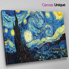 AB242 impressionist van gogh night Abstract Canvas Wall Art Framed Picture Print