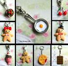 CHERRY LOLLY BISCUIT FRIED EGG CHOCOLATE CAKE WINE KEYRING GINGERBREAD NECKLACE