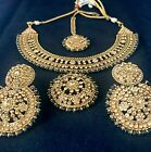 New Bollywood Style Party Wear Indian Copper Sets Gold Black Turquoise Necklace