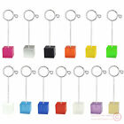 Color Cube Base Flip Flop Wire Stand Name Card Memo Photo Clip Holder,Home Deco