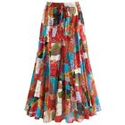 "Patchwork Long Maxi Skirt - Elastic Waistband - 35"" Long"
