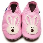 Inch Blue Luxury Leather Soft Sole Baby Shoes - Pink/Cream Flopsy Bunny