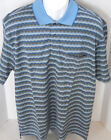 IZOD Golf Classix Men's Blue Patterned Short Sleeve Polo Shirt Size L