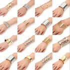Fashion Lots Style Women Gold Silver Bangle Punk Bracelet Charm Cuff Jewelry