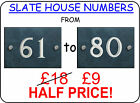 House Number Slate Sign Plate Plaque Numbers 61 to 80