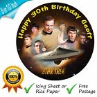 STAR TREK CAKE TOPPER FATHER'S DAY BIRTHDAY CAKE EDIBLE PRINTED TOPPER on eBay