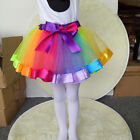 Fashion Rainbow Tutu Skirt Dress Party Ballet Dancing Costume for 2-8Years Girls