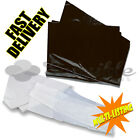 BLACK & CLEAR HEAVY DUTY WASTE REFUSE SACKS BAGS BIN LINERS RUBBISH 18X29X39''
