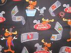 BULLWINKLE AND ROCKY -SCRUB HATS / MEDICAL / SURGICAL---your choice OF 2 styles