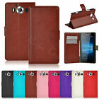 Luxury PU Leather Wallet Case Cover W/ Stand For Microsoft Nokia Lumia 950 950XL