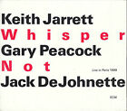 Keith Jarrett Gary Peacock Jack DeJohnette Whisper Not 2CD Slipcase FASTPOST
