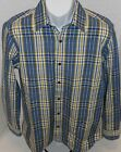 BANANA REPUBLIC Men's Blue Plaid Button Down Shirt Sizes S and M