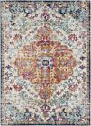 Traditional Oriental Distressed Blue Area Rug **FREE SHIPPING**