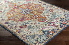Traditional Oriental Distressed Blue Area Rug FREE SHIPPING