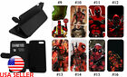Deadpool Comic iPhone 11 8 Plus 7 XR Leather Wallet Flip Stand Phone case #2