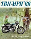 08019 1966 TRIUMPH MOTORCYCLE AD ART PRINT $12.95 AUD on eBay