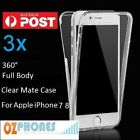 Apple iPhone 7 8 soft Case Cover 360° Screen + Back Mate Clear 3x
