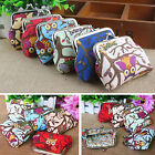 WOMEN MULTI-COLOR OWL PRINTED COIN PURSE WALLET CANVAS POUCH MONEY BAG MYSTERY