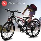 25'' E-Bike Electric Bike Bicycle Mountain Foldable Cycling Lithium Powered 250W