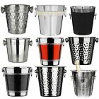 Ice Champagne/Wine Bucket Wine Cooler Champagne Stainless Steel Hammered Effect