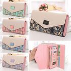 Women Lady Leather Clutch Envelope Wallet Long Pu Card Holder Case Purse Handbag
