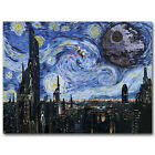 Star Wars Classic Movie Art Silk Poster Starry Night Wall Art Print 13x18 24x32 $16.35 CAD