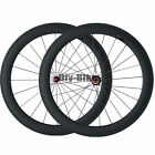 Straight Pull 700C 60mm Clincher Road Bike Bicycle Racing Wheels Carbon Wheelset