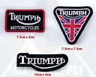 Triumph Collection Patch Motorcycle Iron On Sew on Embroidered Badge patch £1.89 GBP on eBay