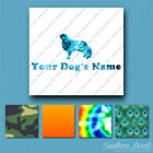 Custom English Toy Spaniel Dog Name Decal Sticker - 25 Printed Fills - 6 Fonts