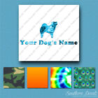 Custom Chow Chow Dog Name Decal Sticker - 25 Printed Fills - 6 Fonts