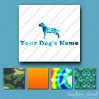 Custom American Staffordshire Terrier Name Decal - 25 Printed Fills - 6 Fonts